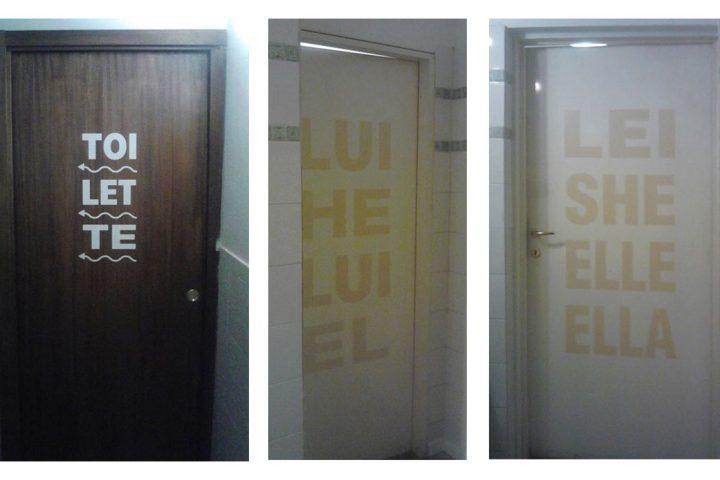 Segnaletica toilette